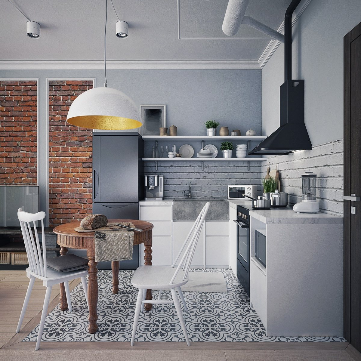 4 first home interior ideas with a scandinavian twist Kitchen design light grey