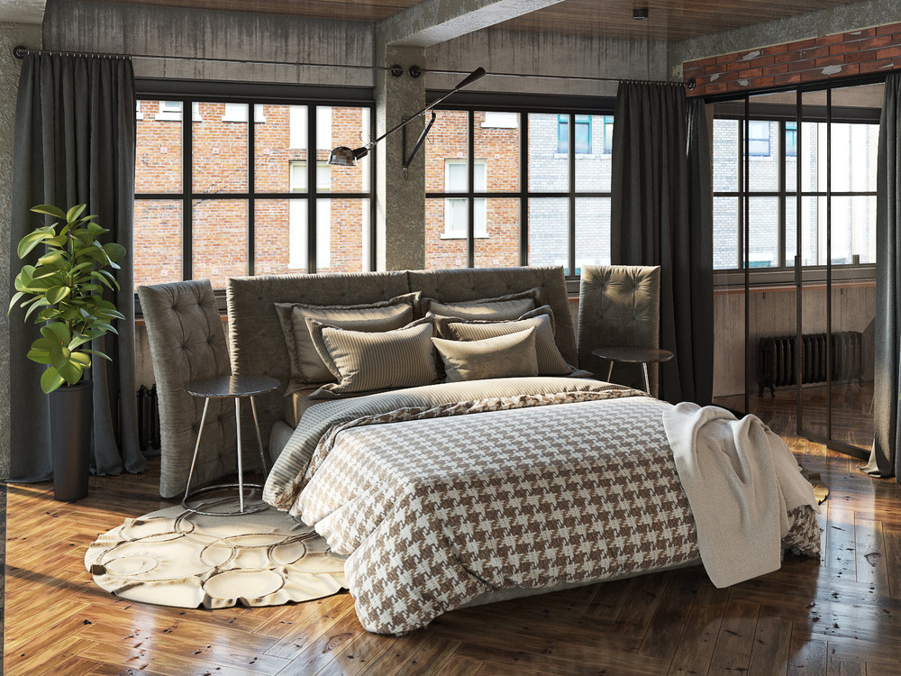Join the industrial loft revolution Industrial bedroom