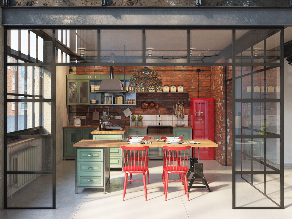 Join the industrial loft revolution for Cocina industrial tipo loft