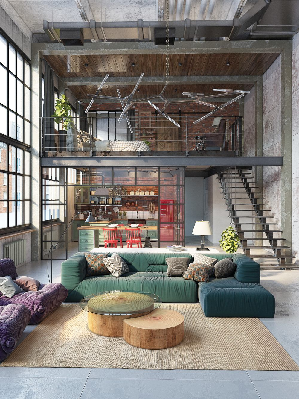 Join the industrial loft revolution for Industrial design house plans