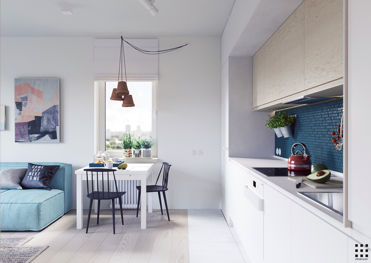 A scandinavian style apartment perfect for a small family - Kitchen and dining area design crossword ...