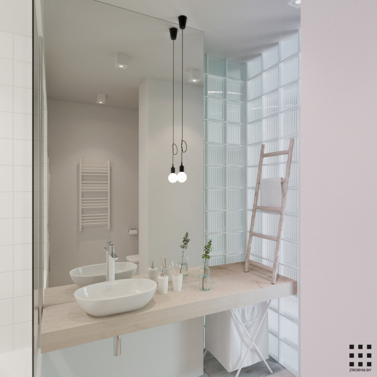 Scandinavian Design Bathroom Lighting : A scandinavian style apartment perfect for small family