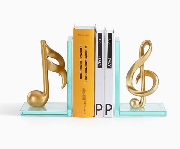 Music themed home decor - Treble clef bookends ...