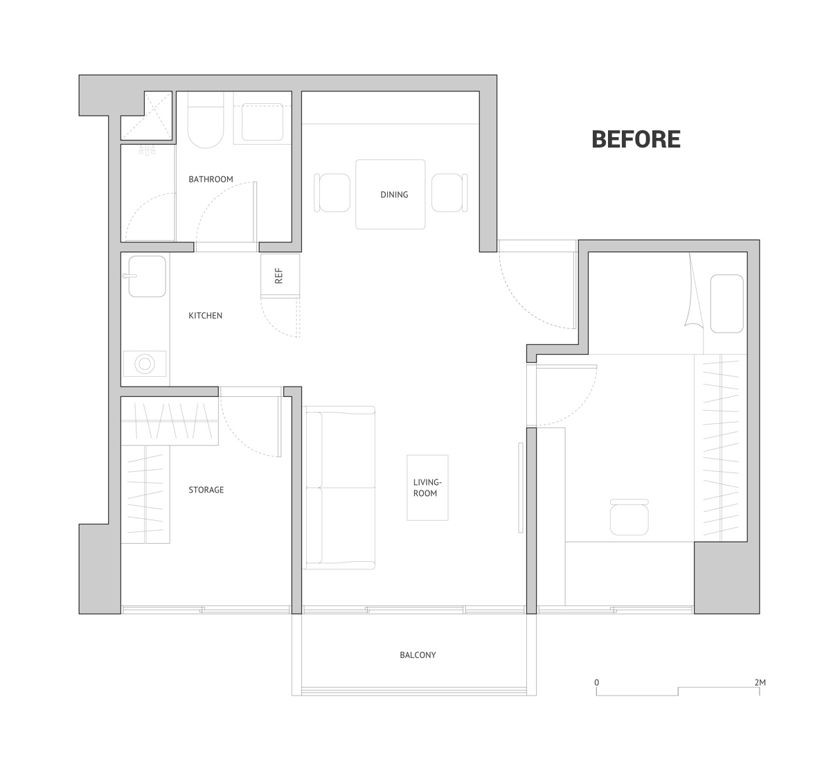 Open Loft Design Floorplan Before - Cat owner s cramped apartment gets room to breathe