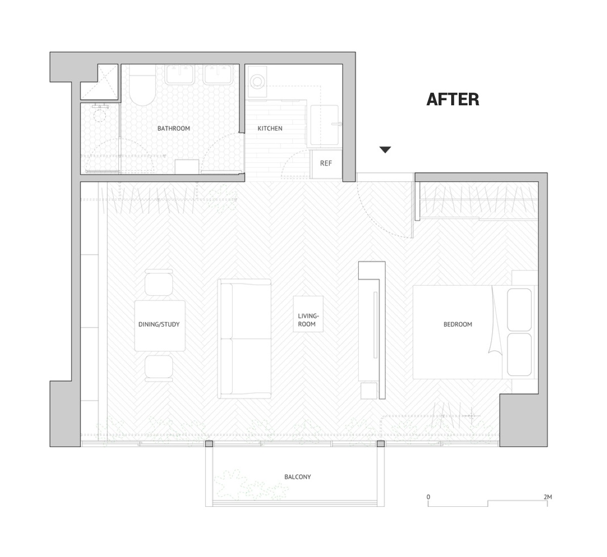 Open Plan Apartment Floor Plan - Cat owner s cramped apartment gets room to breathe