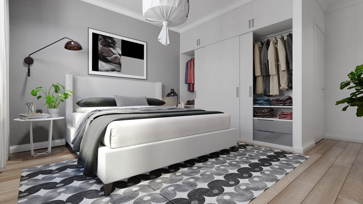 grey and white interior design inspiration from scandinavia. Black Bedroom Furniture Sets. Home Design Ideas