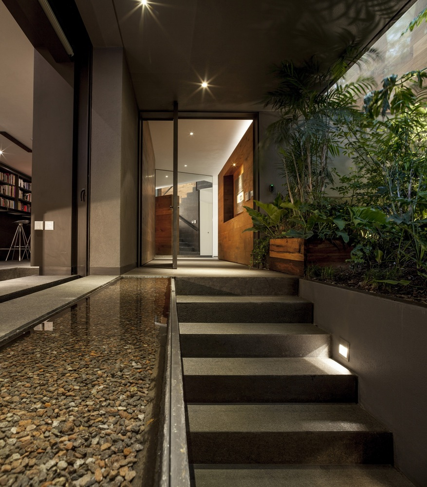 Placid Pond Stones Stairs Lighting   This Gorgeous Home Is A Nature Loving  Bookworm S Paradise