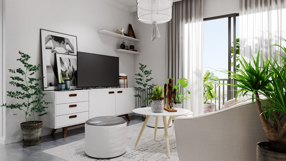 Potted Life Black And Grey Bedroom - Grey and white interior design inspiration from scandinavia