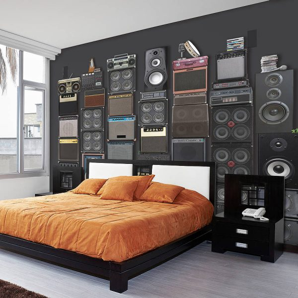 Music themed home decor for Themed bedroom wallpaper