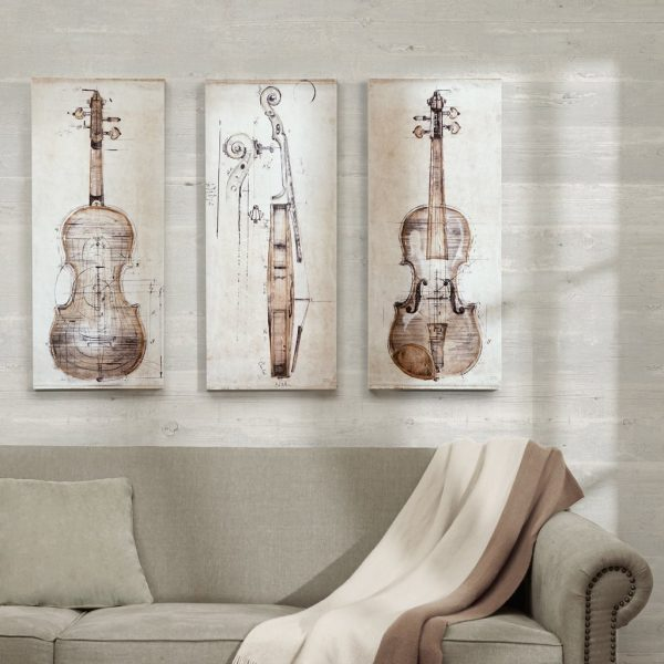 Music Themed Home Decor : violin triptych music bedroom ideas 600x600 from www.home-designing.com size 600 x 600 jpeg 52kB