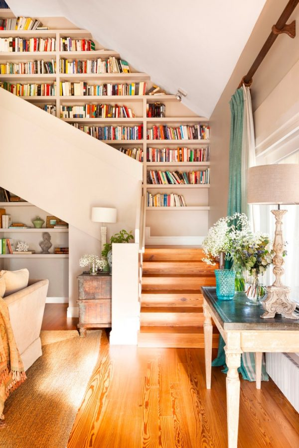 Wall Of Storage Endearing 50 Creative Ways To Incorporate Book Storage In & Around Stairs Inspiration