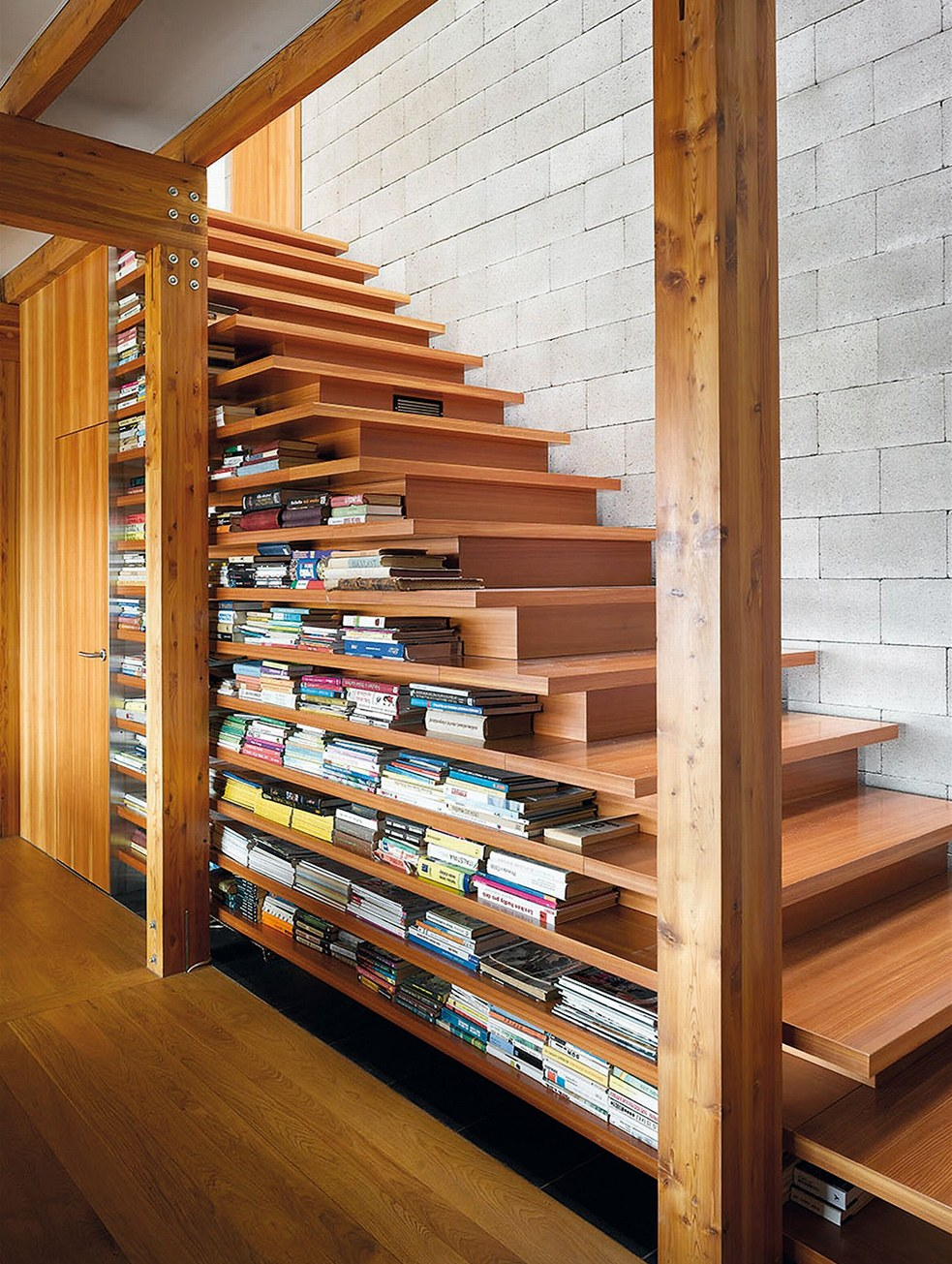 50 creative ways to incorporate book storage in around stairs. Black Bedroom Furniture Sets. Home Design Ideas