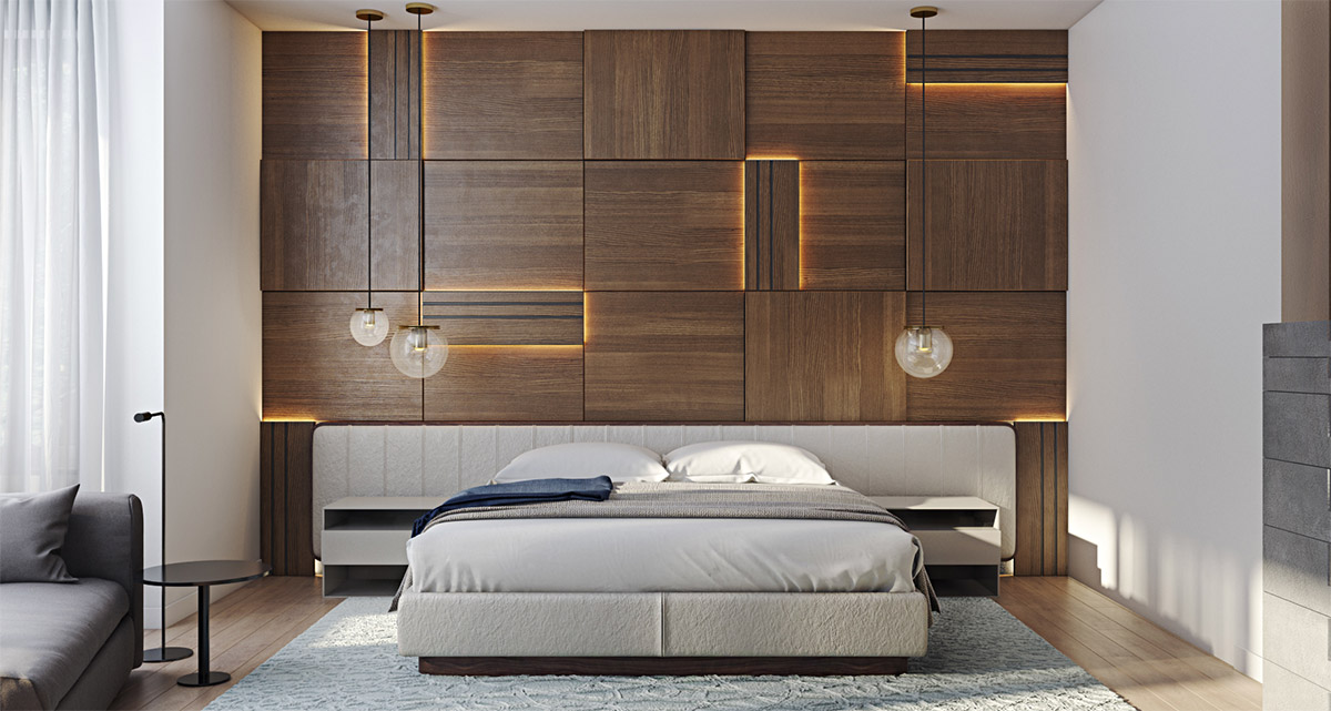 Bedroom panelling designs home design How to design your bedroom wall