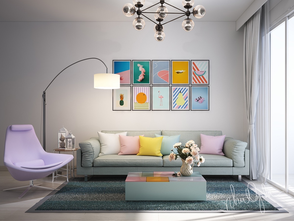 Tastefully use art to amplify the ambiance of your rooms for Whimsical living room