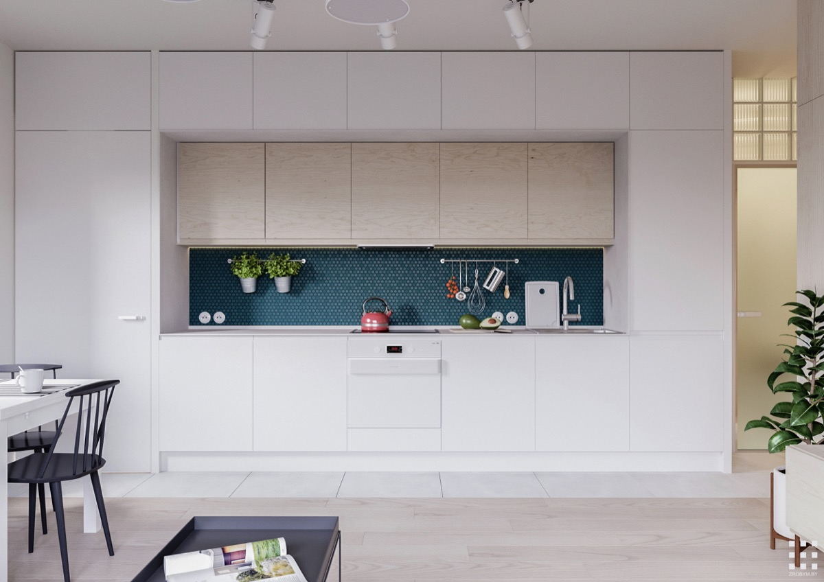 White Built In Kitchen Tile And Wood Floor - 30 modern white kitchens that exemplify refinement