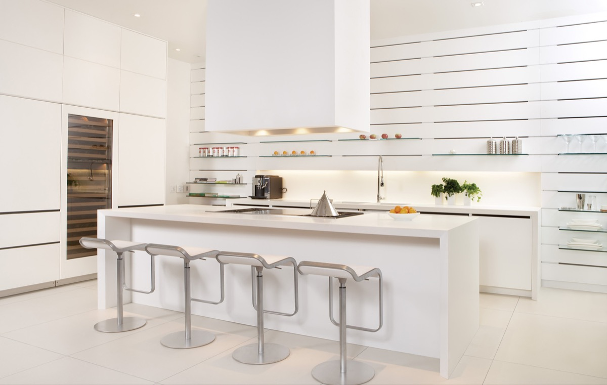 30 modern white kitchens that exemplify refinement for Open kitchen designs photo gallery