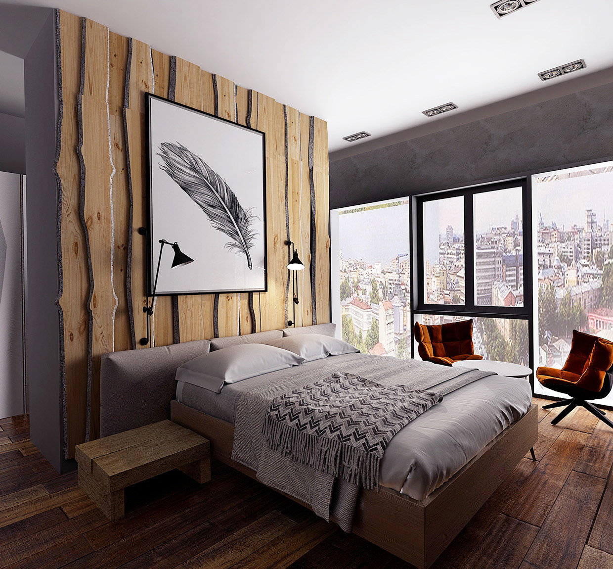 Amazing Wooden Wall Designs Striking Bedrooms That Use The Wood Finish Artfully
