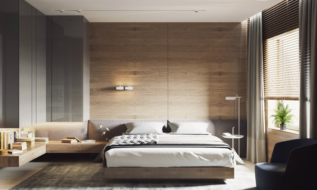 wooden wall designs: 30 striking bedrooms that use the wood finish