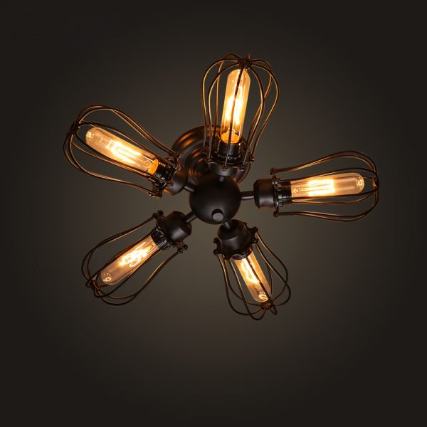 50 industrial style furniture home decor accessories - Industrial style ceiling fan with light ...