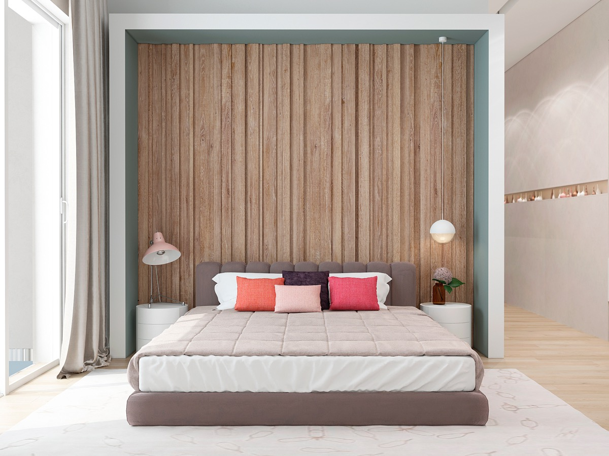 Wooden Wall Designs: 30 Striking Bedrooms That Use The Wood Finish ...