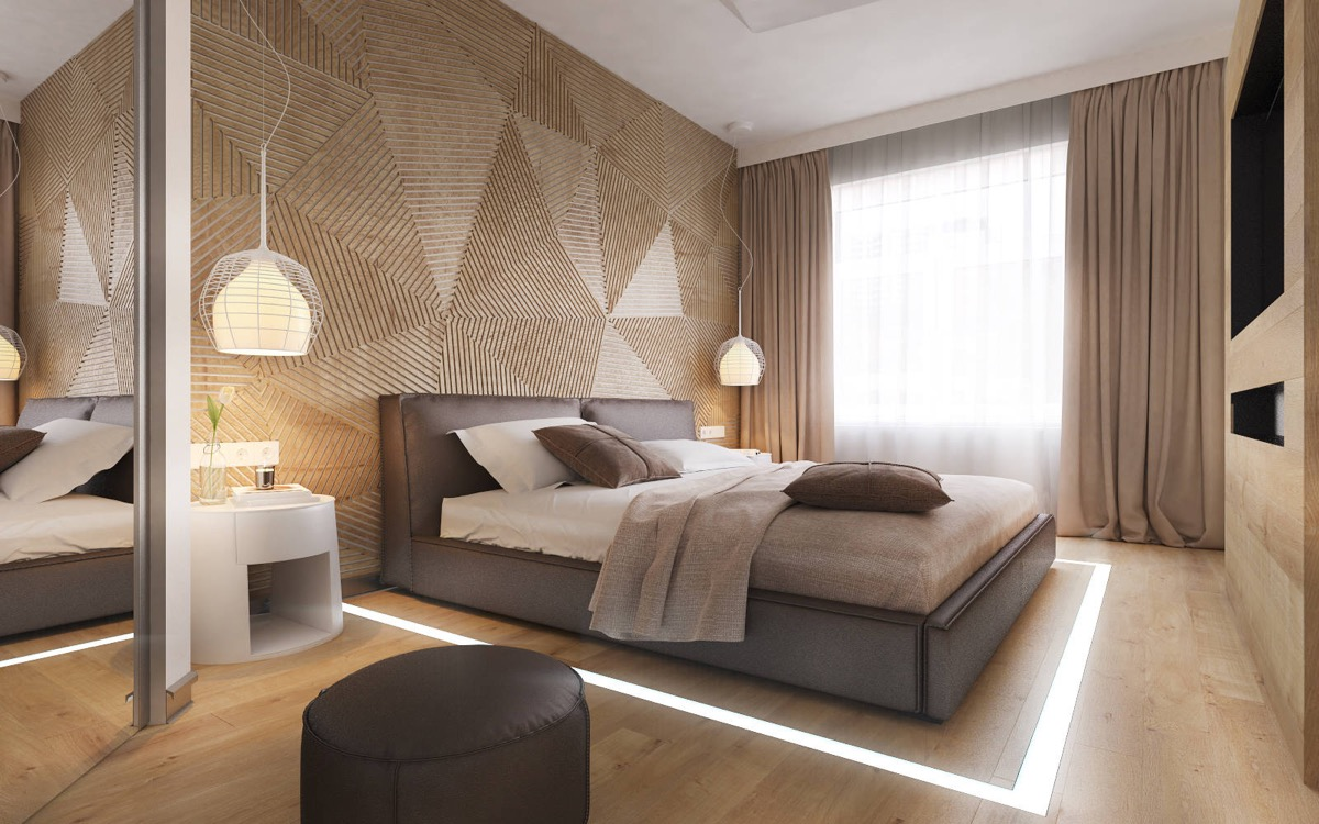 Spectacular Wooden Wall Designs Striking Bedrooms That Use The Wood Finish Artfully