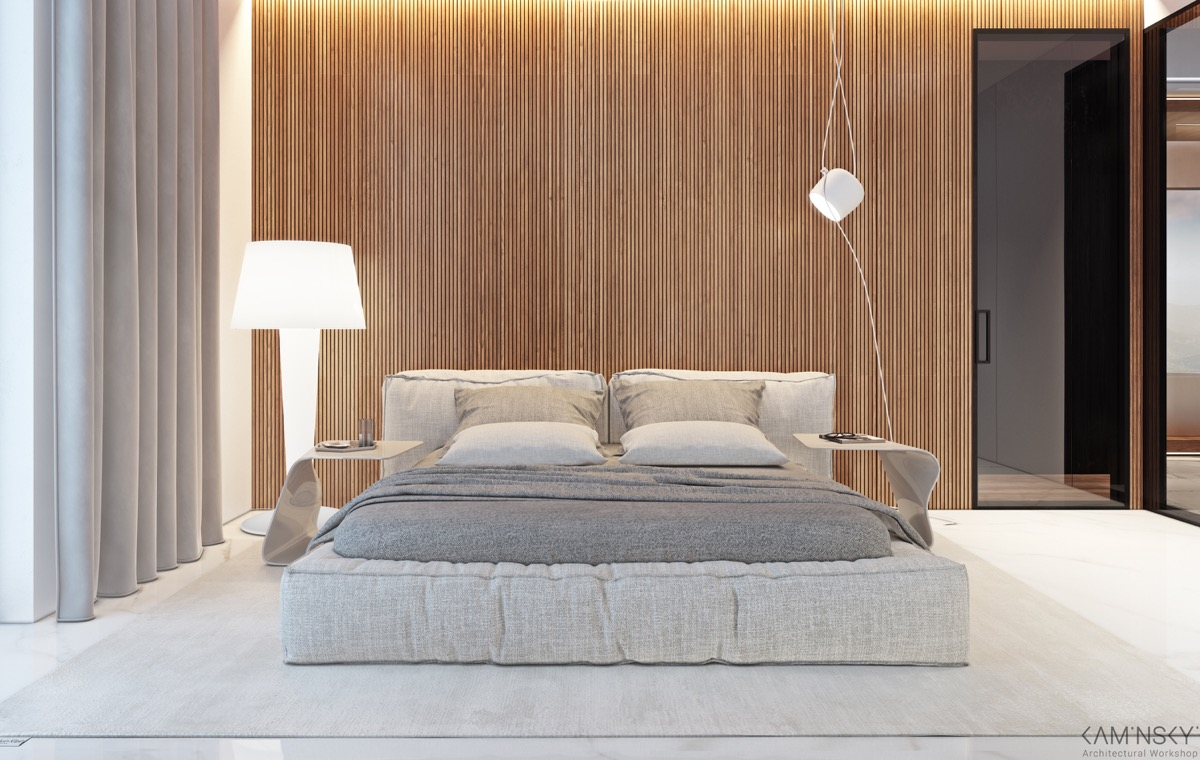 Wood Wall Designs : Wooden wall designs striking bedrooms that use the