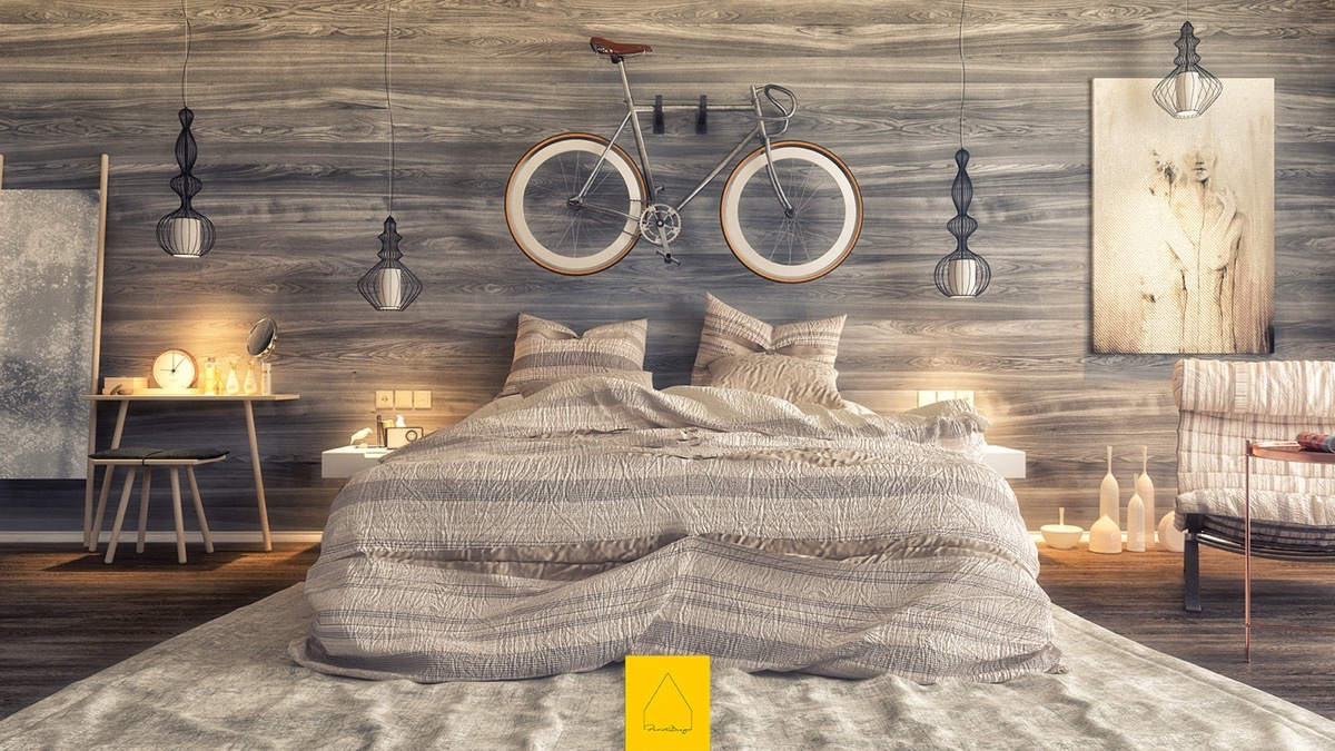 Bed Sheets Tumblr Vertical On Wooden Wall Designs 30 Striking Bedrooms That Use The Wood Finish Artfully