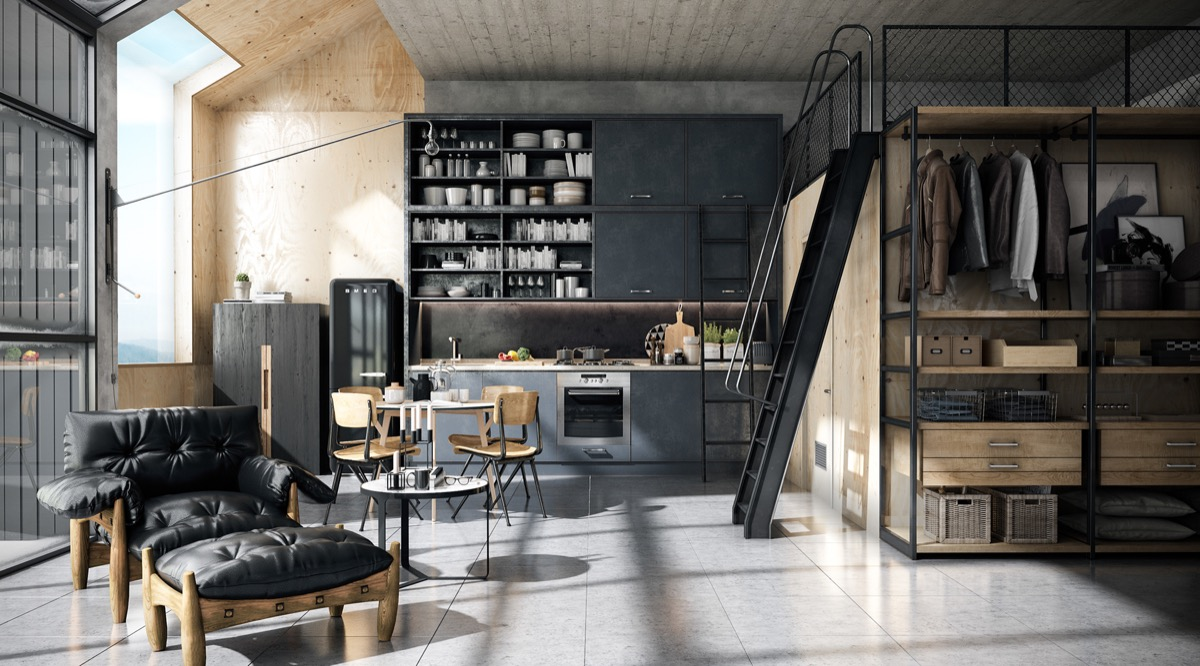 32 industrial style kitchens that will make you fall in love for Industrial style kitchen designs