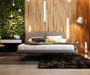 50 wooden wall decor art finds to help you add rustic for New style bedroom bed design