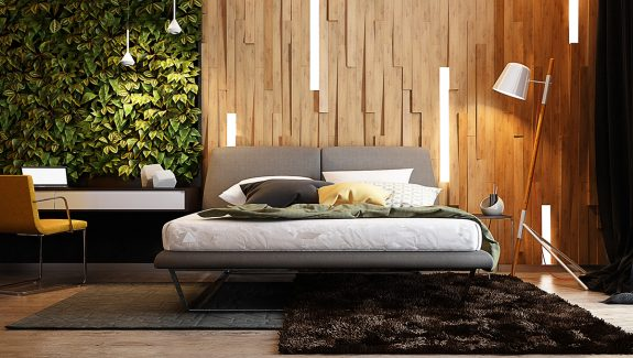 wooden wall designs 30 striking bedrooms that use the wood finish artfully - Wall Decoration Bedroom