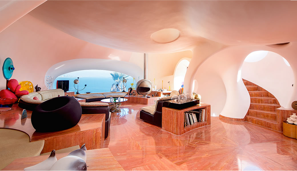 Pink Marble Floor Pierre Cardin Pink Domes - Take a tour of pierre cardin s 300 million pound bubble mansion
