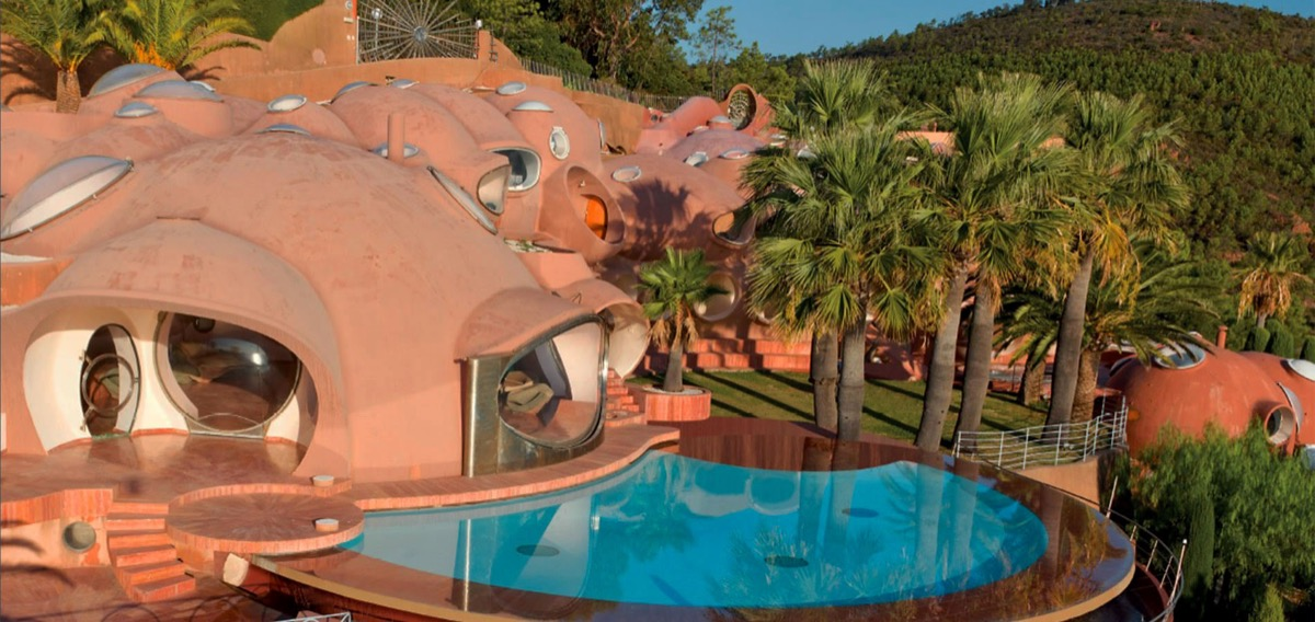 Swimming Pool Pink Bubble Domes Pierre Cardin French Mansion - Take a tour of pierre cardin s 300 million pound bubble mansion