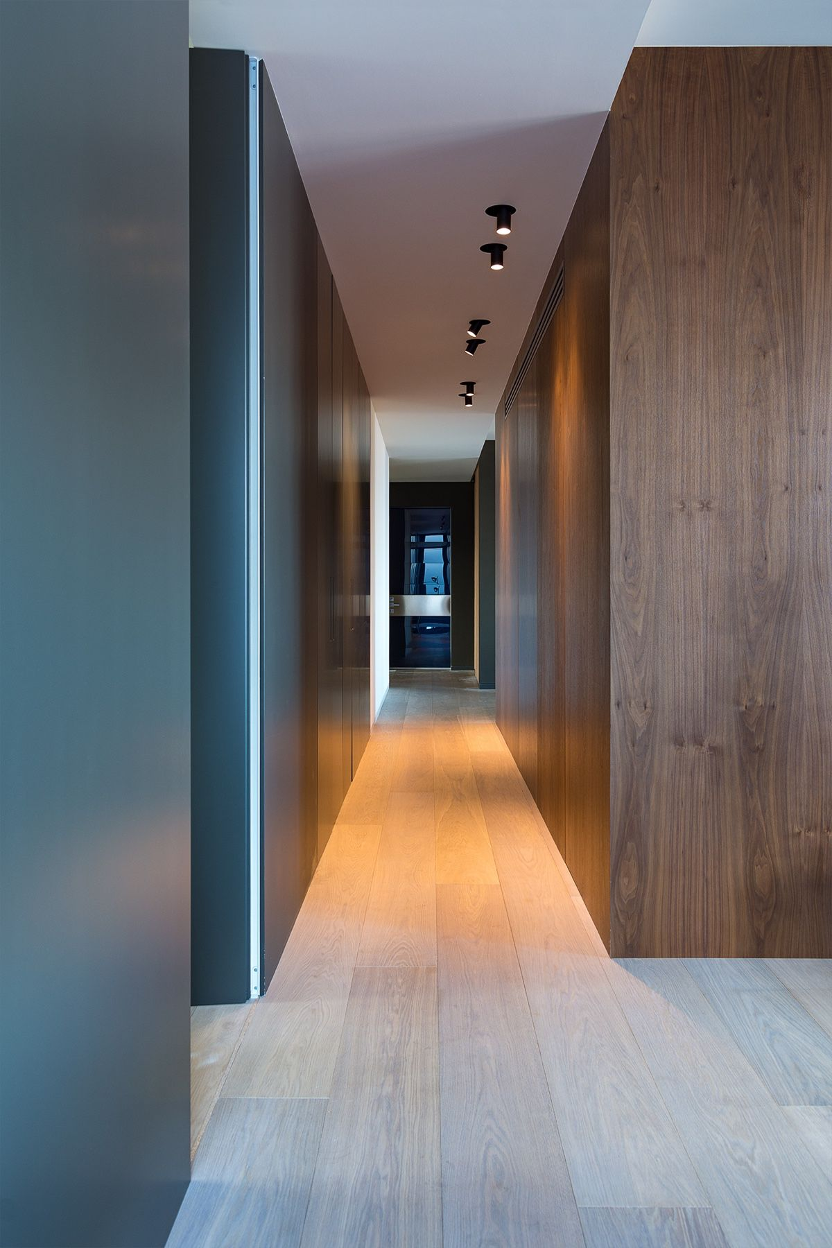 Galley Hallway To Door - Modern perfection in kyiv apartment