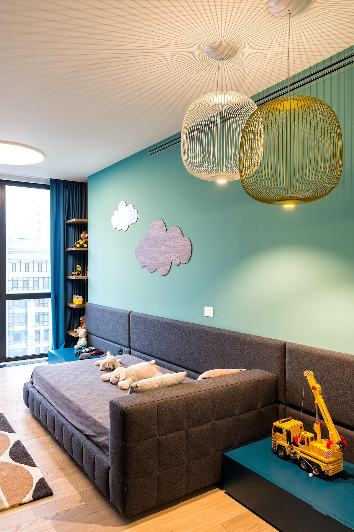 Kids Room Close Up Bed - Modern perfection in kyiv apartment