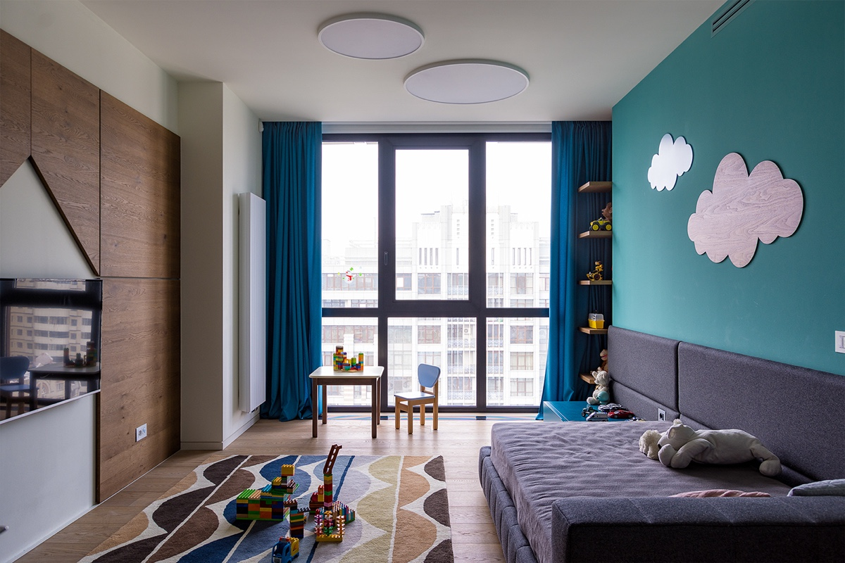Kids Room Facing Window - Modern perfection in kyiv apartment