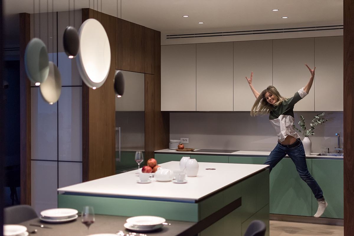 Kitchen Area Cabinets - Modern perfection in kyiv apartment