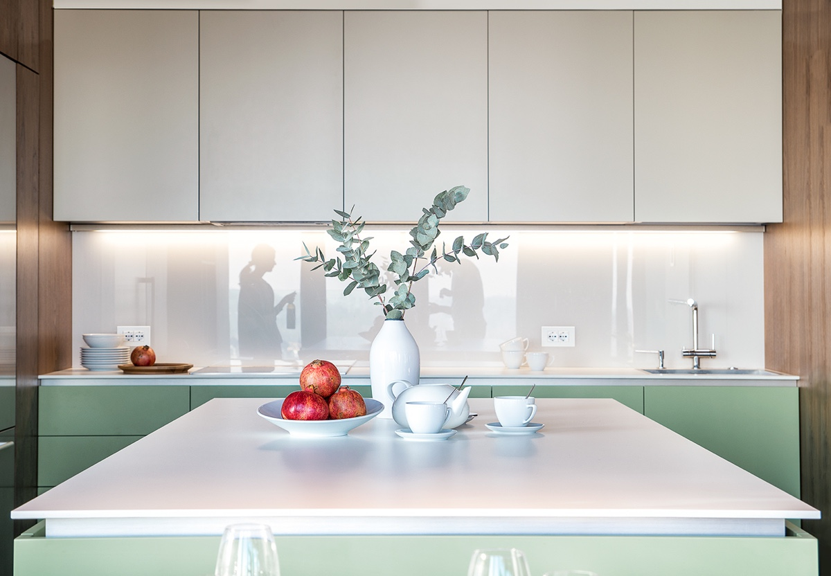 Kitchen Close Up Island Cabinets - Modern perfection in kyiv apartment