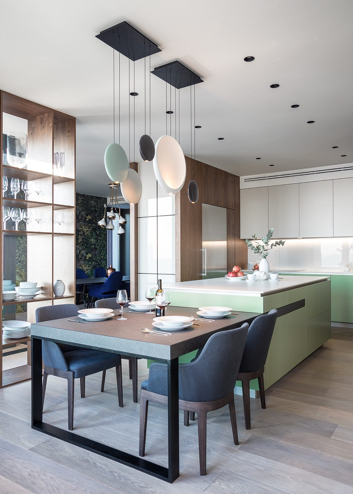 Kitchen View Into Dining - Modern perfection in kyiv apartment