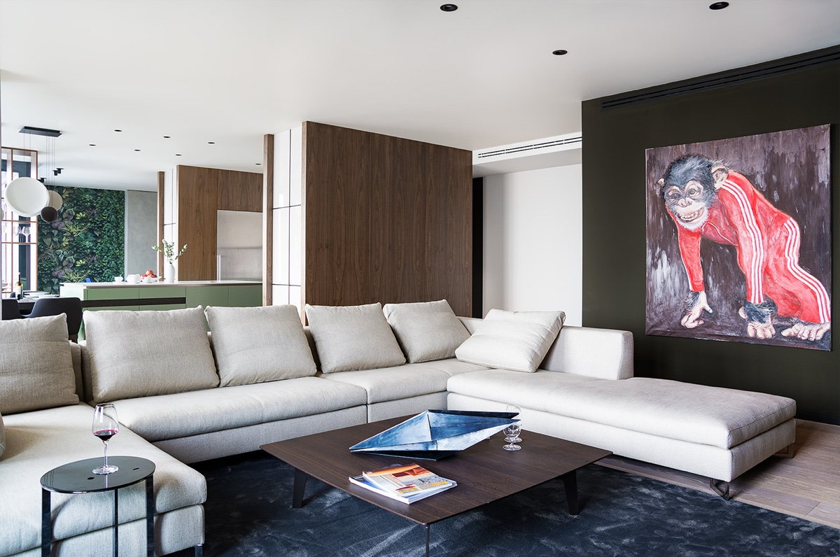 Living Area Sectional - Modern perfection in kyiv apartment
