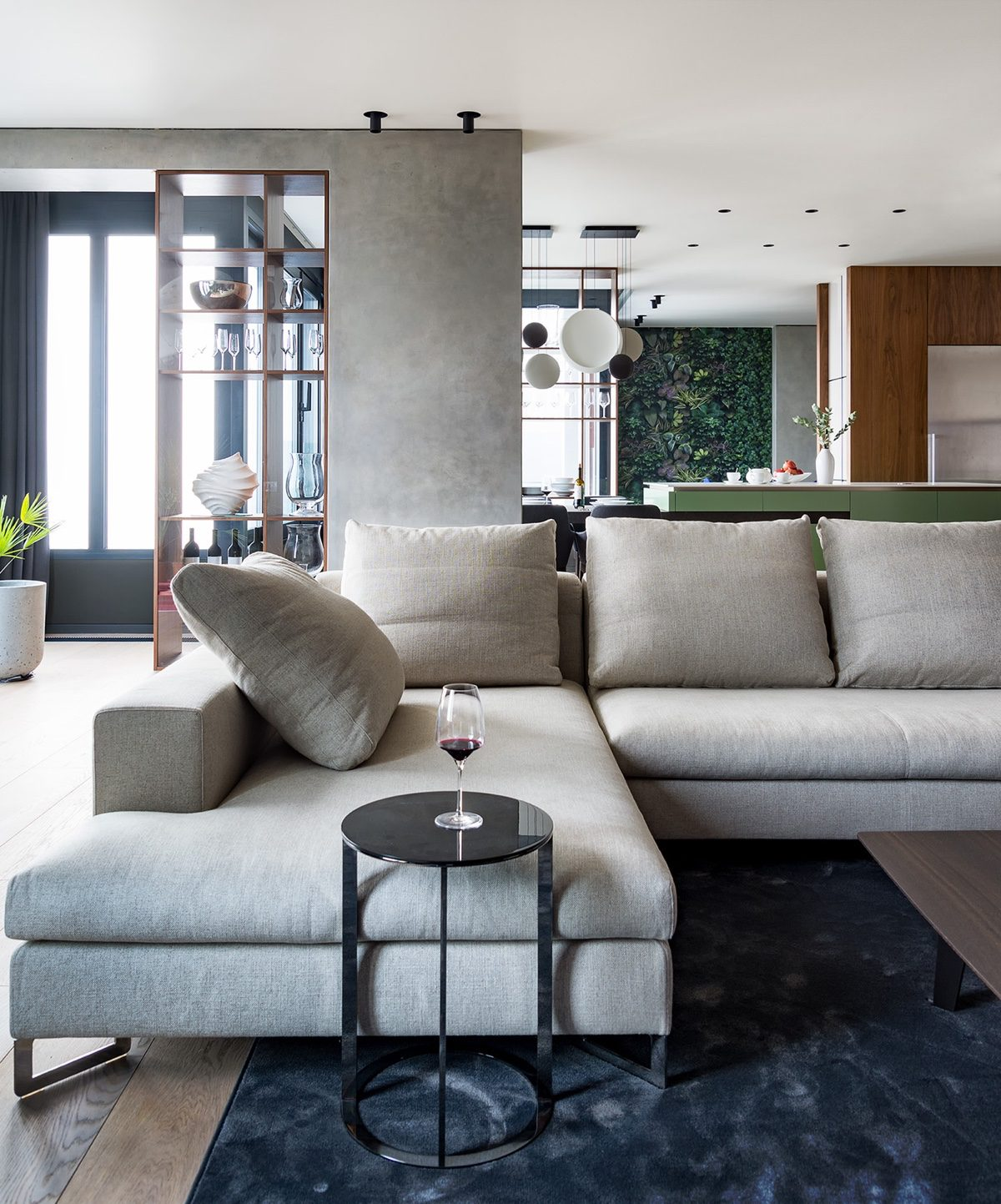 Living Area Into Kitchen - Modern perfection in kyiv apartment