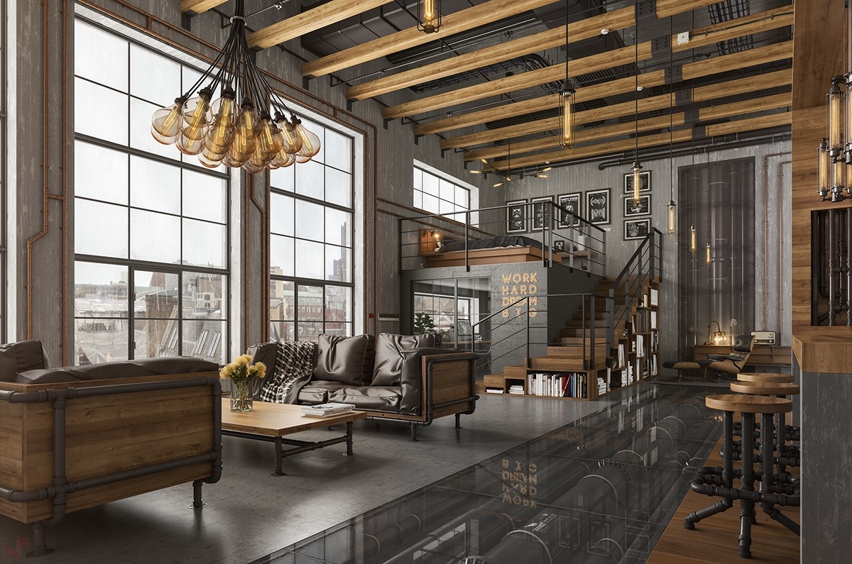 loftas Amazing-loft-design-exposed-piping-loft-design