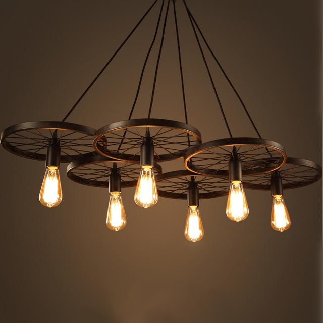 8 industrial style chandelier