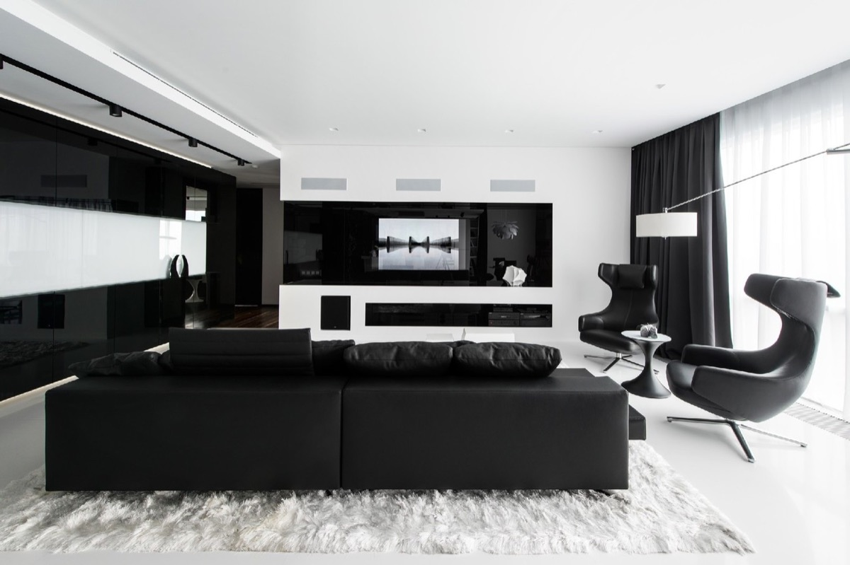 prodigious Black And Grey Living Room Ideas Part - 11: 14 |; Designer: Geometrix