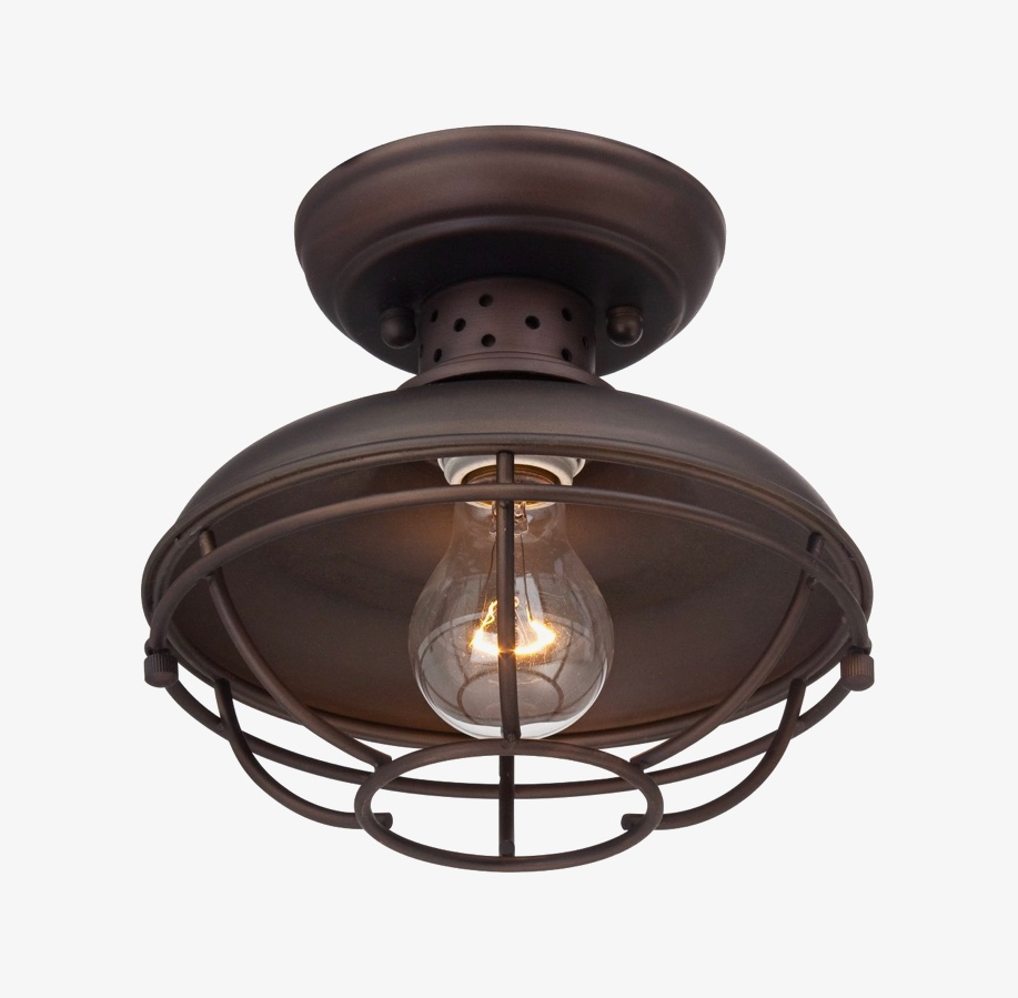 industrial style outdoor ceiling light inspired by the look of the