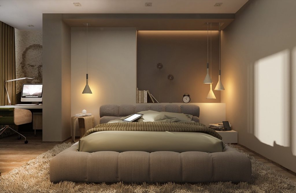 Interior Design Ideas For Bedroom bedroom stunning interior in cream theme bedrooms design with Dangle Metal