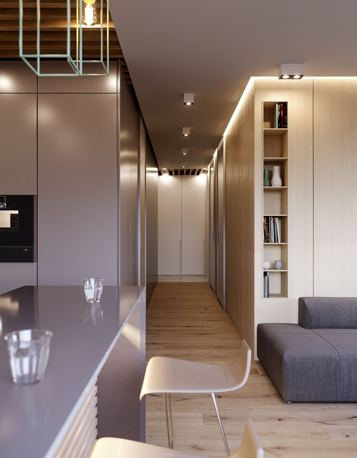 Foyer Design Minimalist : Modern minimalist apartments for young families