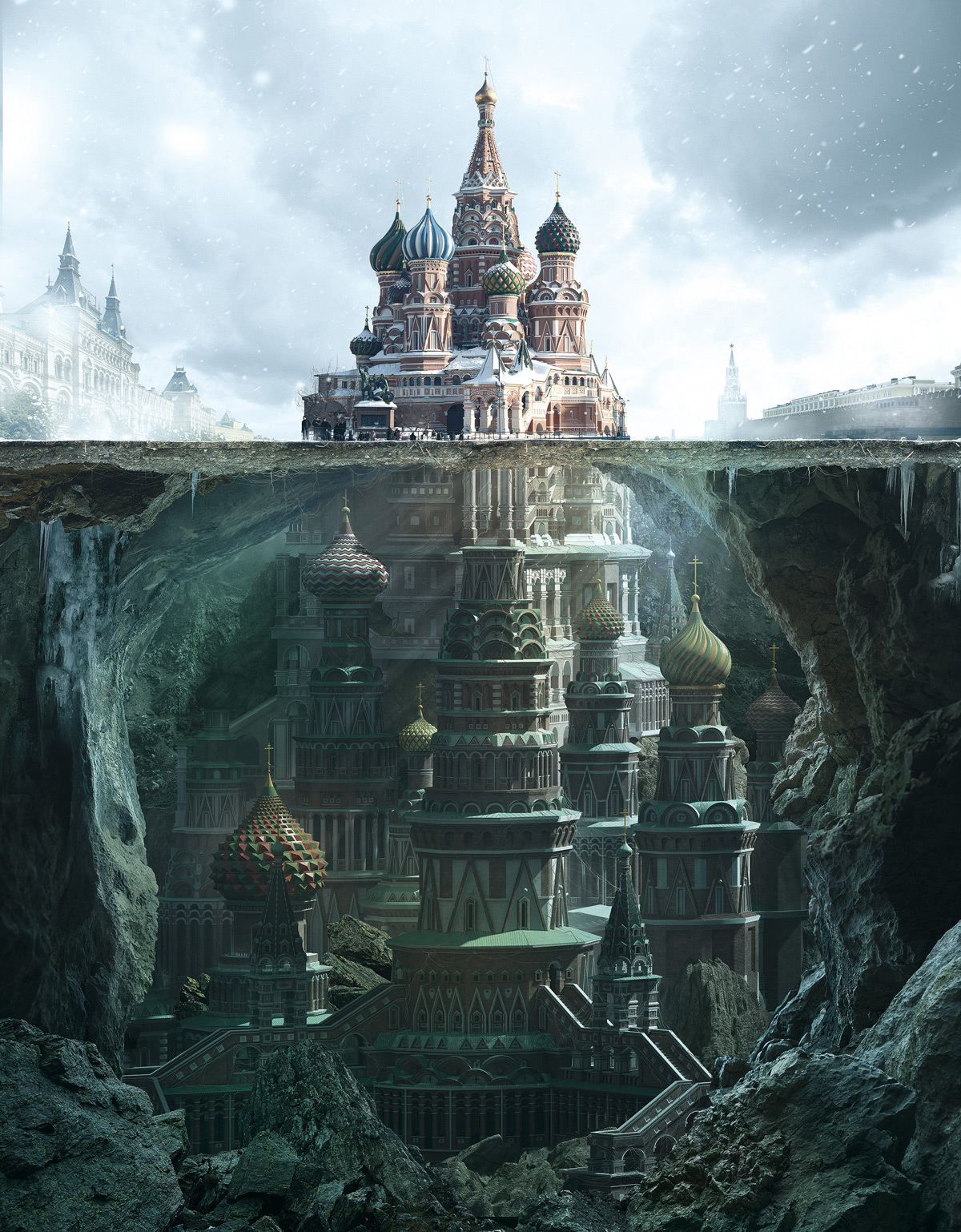 Fantastic Reimagination Of Iconic Russian Architectural Landmarks By