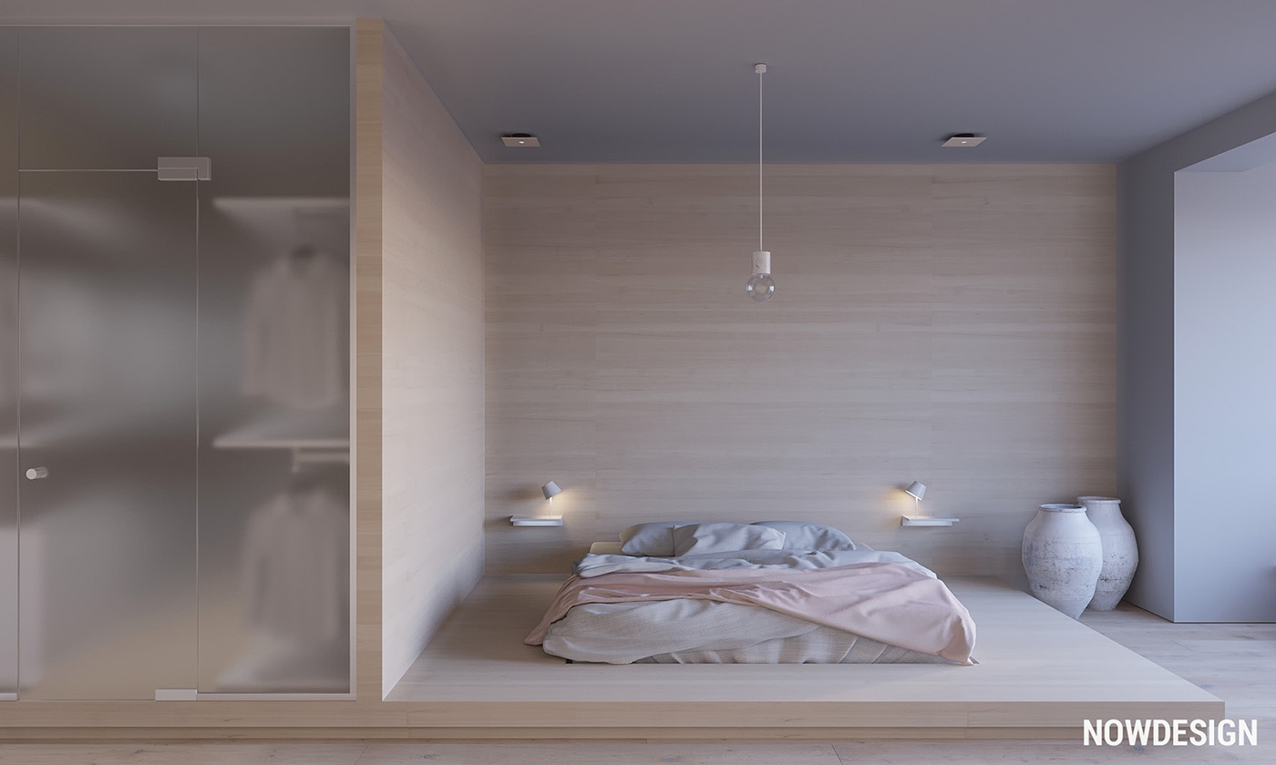 Master Bedroom Walk In Closet - 3 modern minimalist apartments for young families