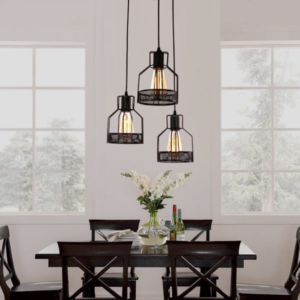Industrial Style Lighting Fixtures To Help You Achieve Victorian - Set of three pendant lights