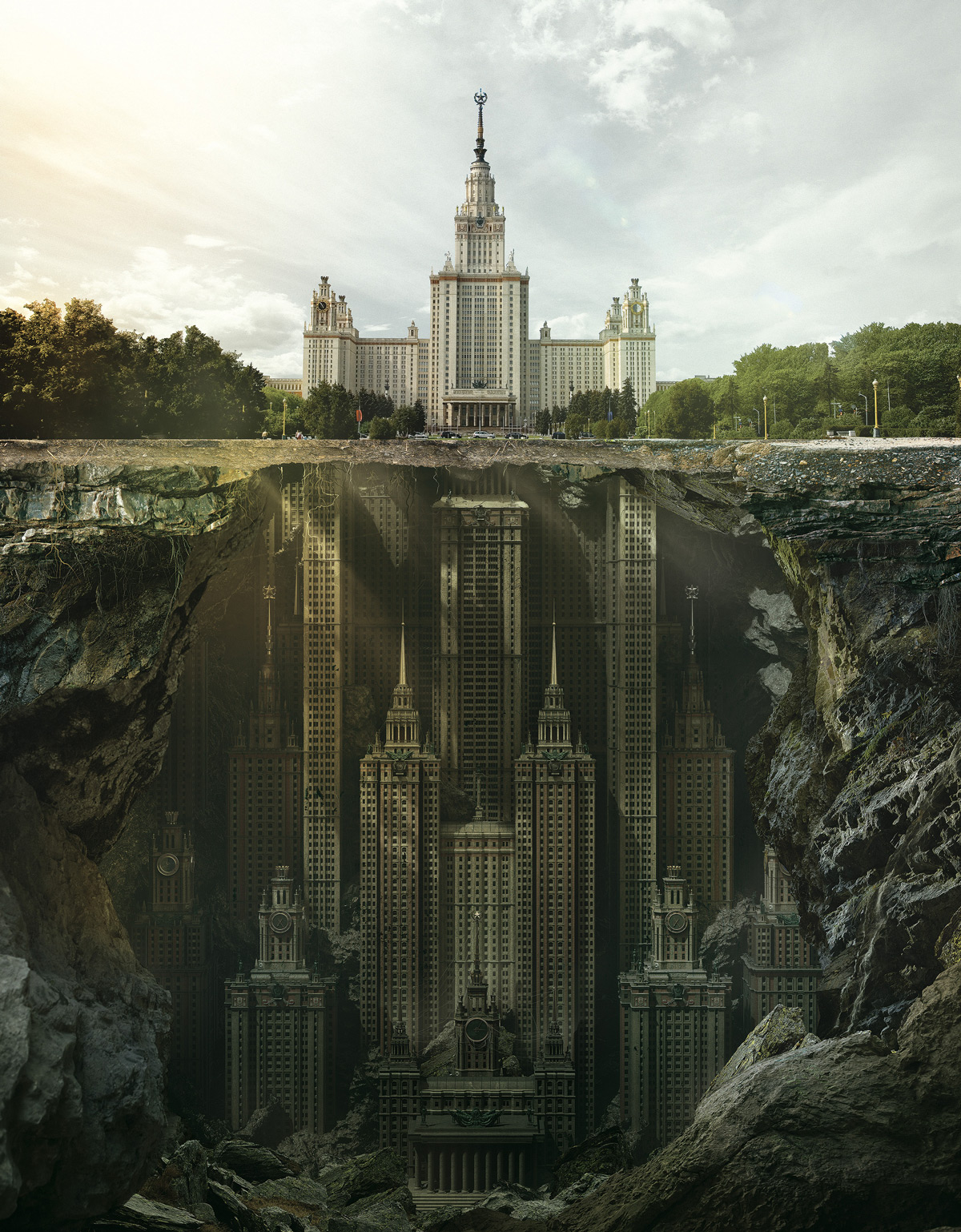 Moscow State University Fantasy Architecture - Fantastic reimagination of iconic russian architectural landmarks by carioca studio